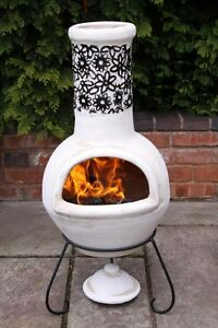 Image Is Loading Mexican Clay Chimenea Chiminea Patio Heater Fire