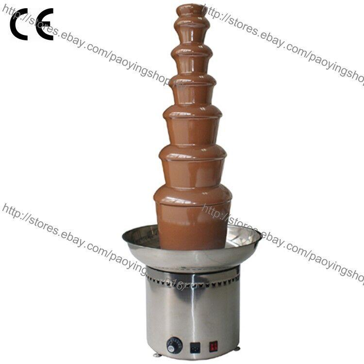 Acier Inoxydable Commercial Electric 103 cm 7-Tier Parti Fondue Au Chocolat Fontaine