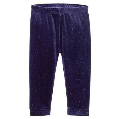 NWT GYMBOREE WINTER STAR NIGHT NAVY BLUE SPARKLE VELOUR  LEGGINGS SIZE M 7-8