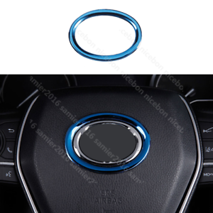 Steel Car Steering Wheel Center Decor Ring Logo Trim Fit For toyota C-HR CHR