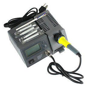 digital display 48w variable temperature soldering station iron with 4 tips. Black Bedroom Furniture Sets. Home Design Ideas