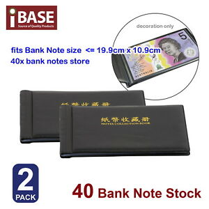 2x BankNote Album Stock Collection Storage Currency Holder Pocket Coin Money 40 714439060718