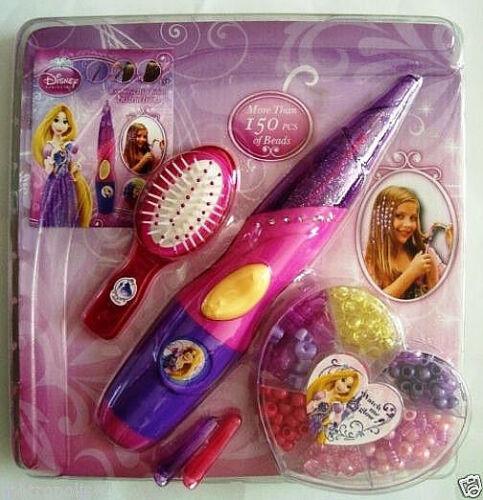 DISNEY PRINCESS WONDERFUL HAIR BEADING SET,W// BEADING UNIT,BEADS,BRUSH,CLIPS,NEW