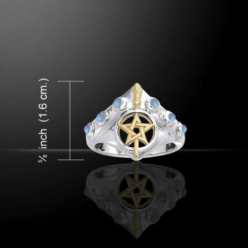 Scopa Strega Anello silver .925 e gold con Ametista By Peter Stone. Wiccan