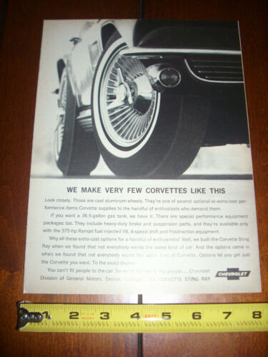 1964 CORVETTE STING RAY ORIGINAL VINTAGE AD