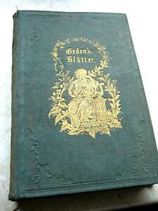 Details Zu Gedichte Und Gedenkblätter Emanuel Geibel 1865 Goldschnitt Cottascher Verlag
