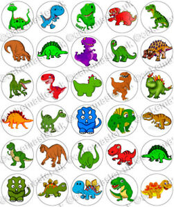 30 x Dinosaurs Clipart Fun Party Edible Rice Wafer Paper ...