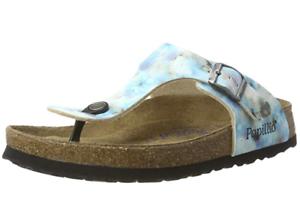 Details about BIRKENSTOCK Papillio Gizeh Pixel Blue sandal SOFT footbed NORMAL US 8 EU 39
