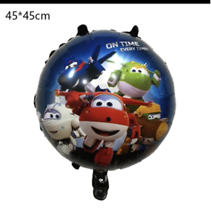 "SUPER WINGS dark blue 18/"" Round Foil Balloon"