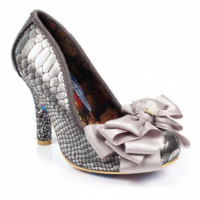 Descuento barato Irregular Choice Ascot Plata Mujer Zapatos De Salón Tacones