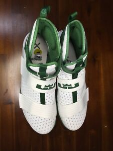 best service 3b337 97c3c Details about New Nike Lebron James Soldier Ten 10 Mens Spartan Green White  Basketball High 17