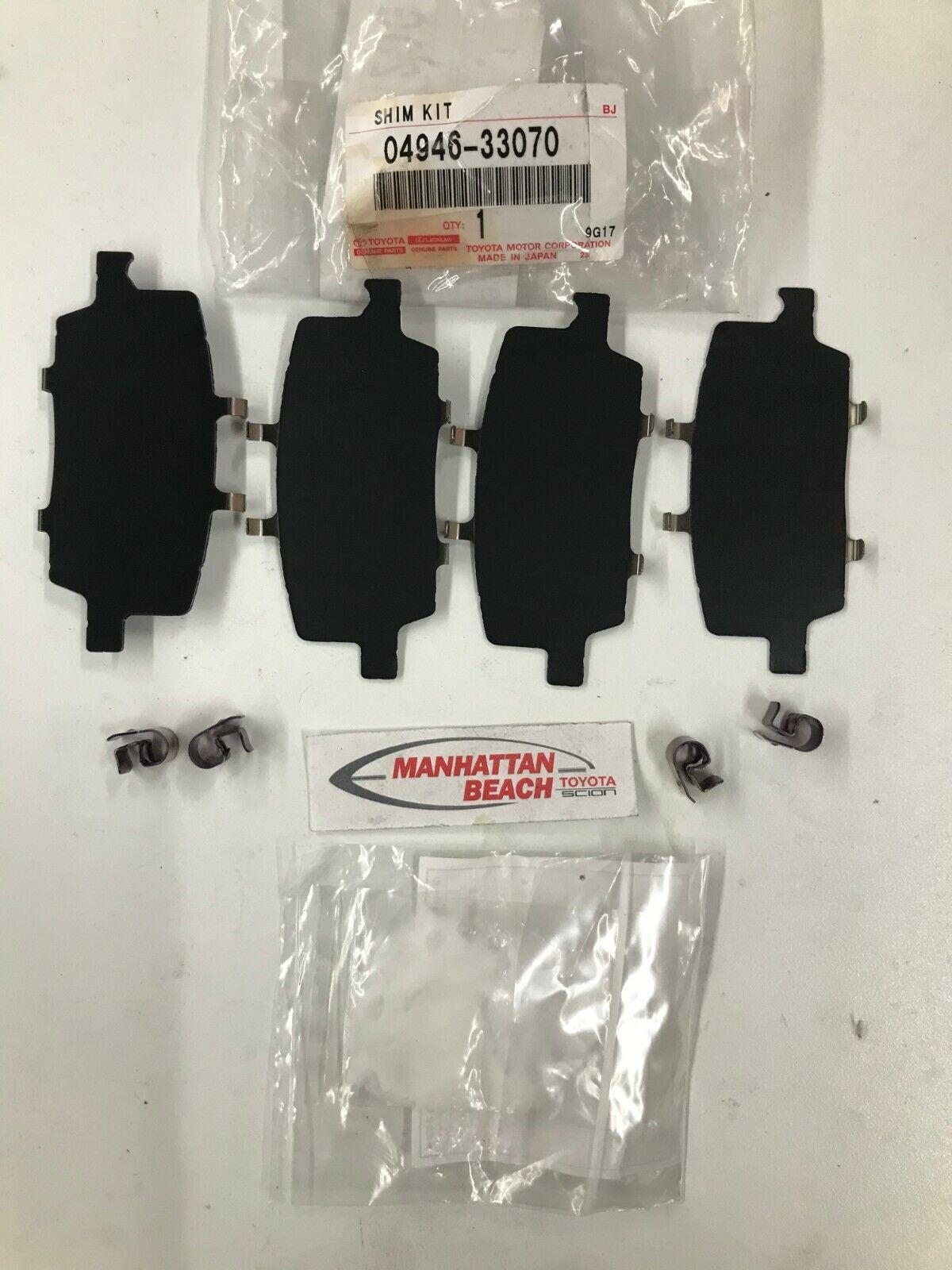 Genuine Toyota Brake Pads Hardware Kit 04946-47070