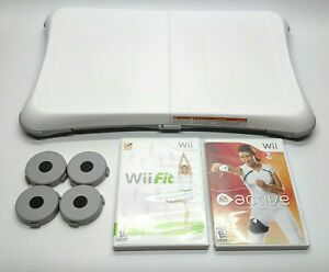 Wii-Fit-Balance-Board-Set-W-Wii-Active-Personal-Trainer-Game-Nintendo-White