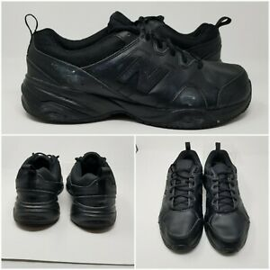 New-Balance-Tripple-Black-Leather-Cross-Walking-Running-Trainer-Shoes-Mens-Sz-13