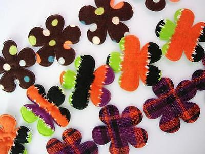 60 Halloween Design Cotton Fabric Print Flower Trim/Stripe/Polka Dot/Plaid H521