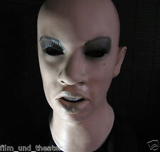 ANGELINA MASK + EYE LASHES Realist. Female Latex Transgender Latexmaske, Rubber