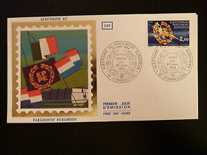 France Premier Jour Fdc Yvert 2306 Elections Europeennes 2f Strasbourg 1984 Emballage Fort