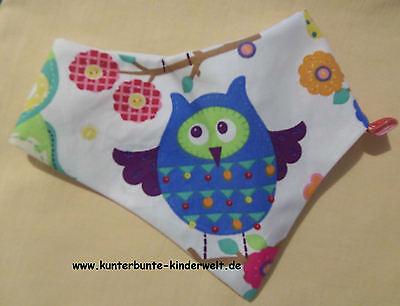 Baby-Halstuch Kinderhalstuch Sabberschutz Kleine Eulen f/&f Mädchentuch