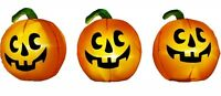 Pumpkin Pathway Markers Synchronized Lights & Sound 3 Piece Set Free Shipping