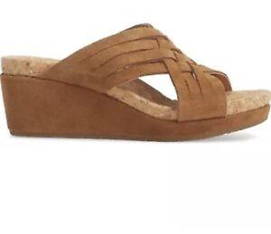 277843af6b3 NEW UGG Women s Lilah Suede Wedge Sandals Shoes Chestnut Color Size ...