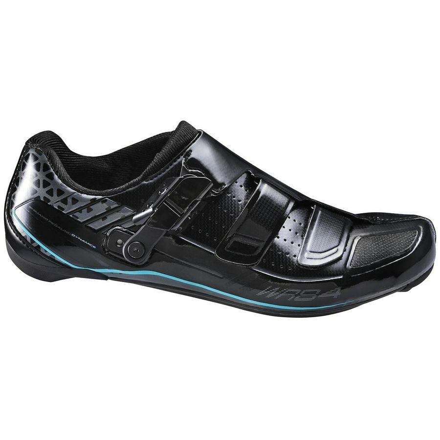 Nuevo Para mujeres Shimano SH-WR84L Carbono Carretera Ciclismo Zapatos, Negro, US 42 EU
