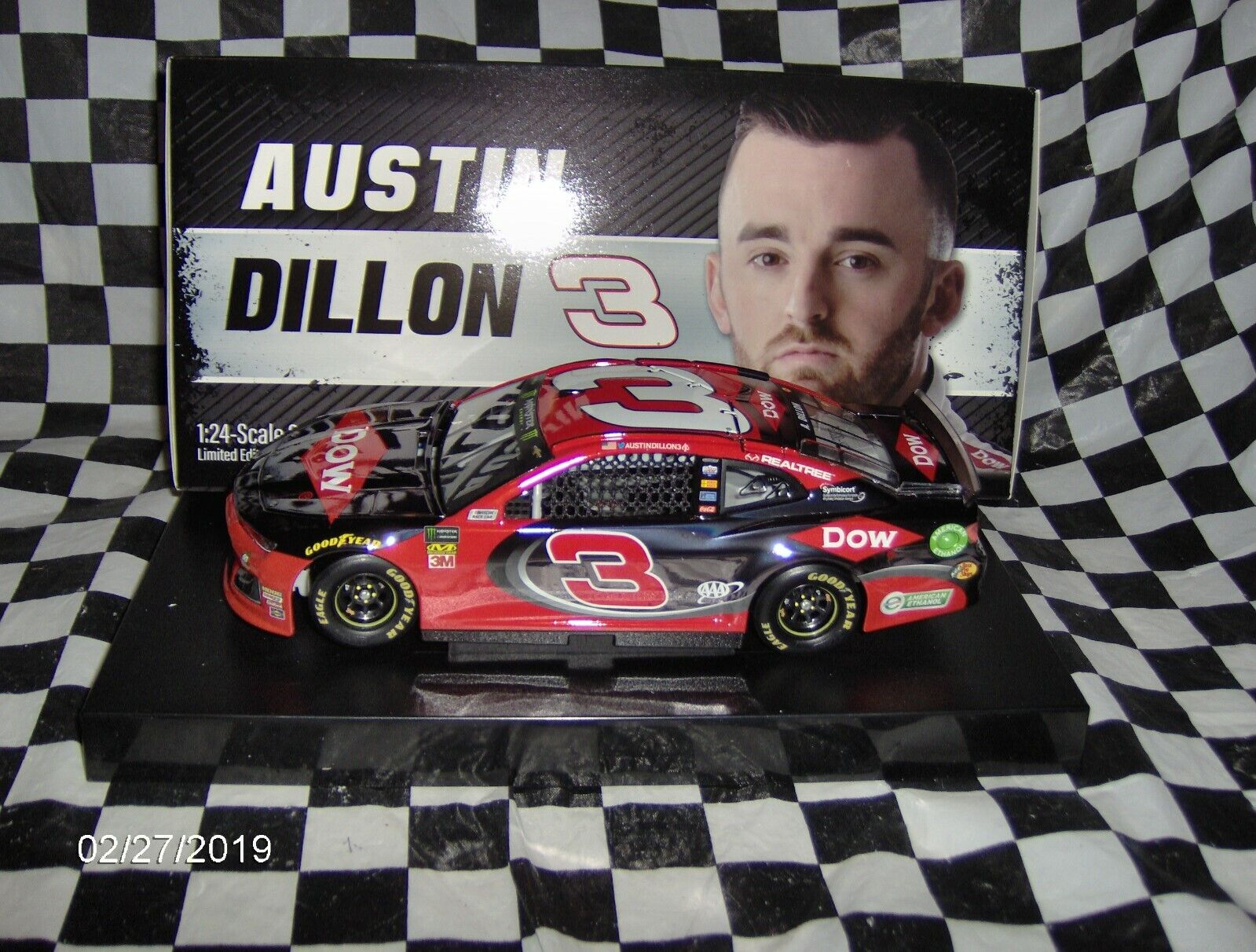 2019 AUSTIN DILLON   3 Dow Couleur chrome 1 24th.