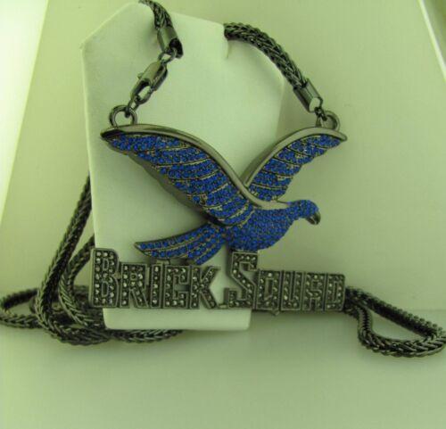 """BRICK SQUAD Hawk Or Blanc Zircone cubique Noir ou Bleu Zircone Cubique Charme Noir Zircone cubique base 36/"""" Franco"""
