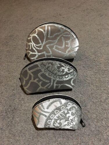Handmade Silk Brocade Coin Purse//Jewel Bag//Gift Bag//Wallet//Zipbag Set Of Three