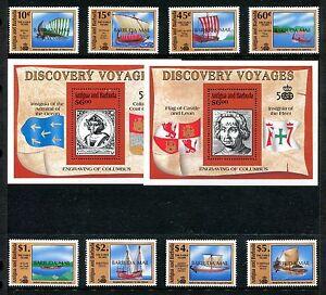 Barbuda 1209-1218, MNH Discovery of America 500th Ann 1991 Columbus Ship x20424