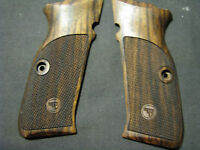 Cz 75 Sp-01 Tactical Only Fine English Walnut Checkered Pistol Grips W/logo