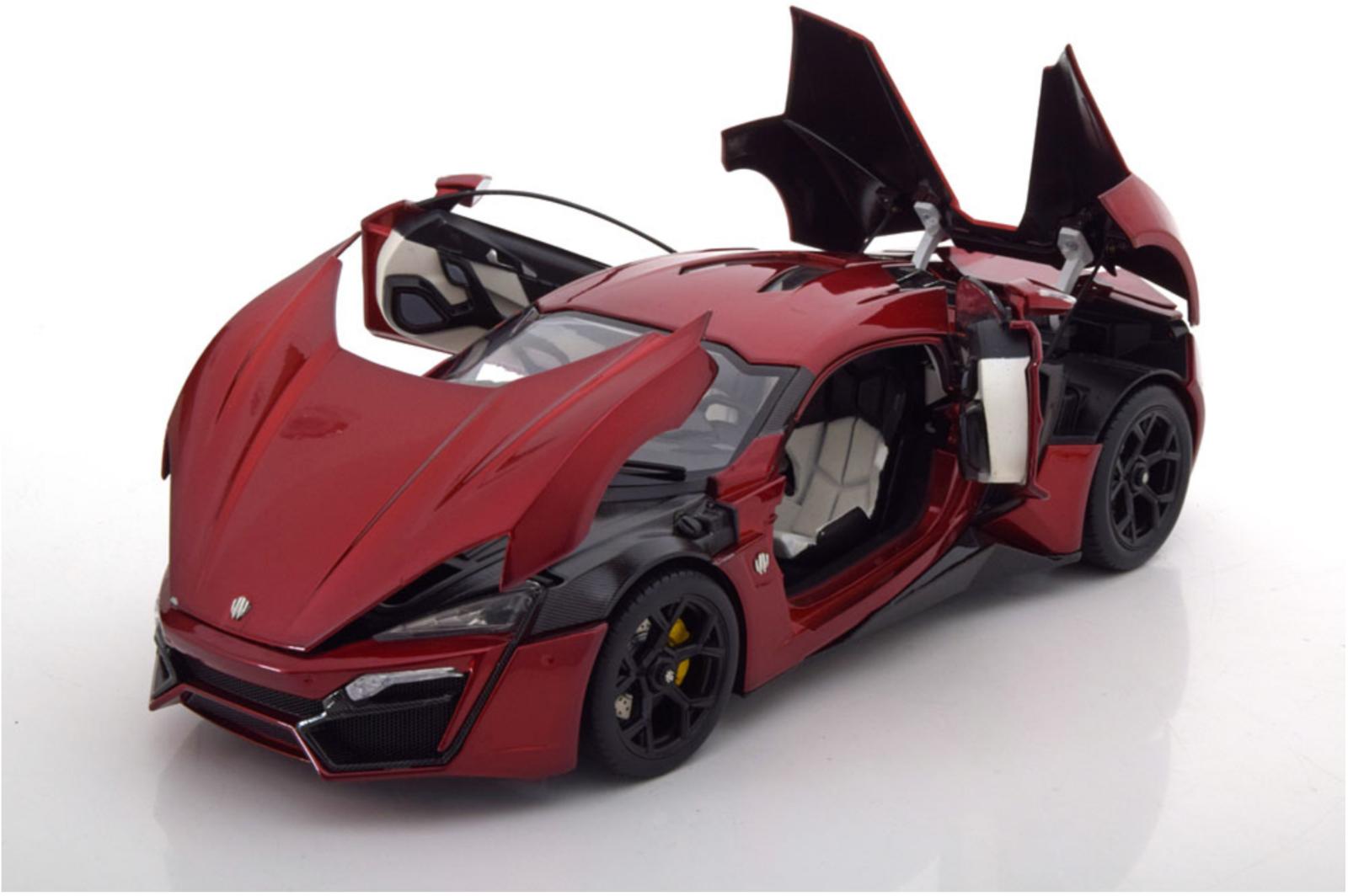 Schuco lykan hypersport Dark Metalic rouge W Motors Hyper voiture 1 18New version