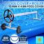 400-Micron-Solar-Swimming-Pool-Cover-Blanket-10-48M-x-4-2M-Roller-Wheel-Blue thumbnail 1