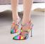 Rivet-Rainbow-Women-Ankle-Buckle-Sandals-Pointed-Toe-High-Heel-Stilettos-Sexy-C8 thumbnail 13