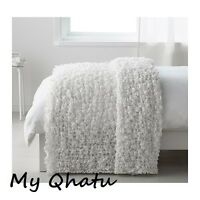 Ikea Blanket Throw Bedspread Stretchable 51x67 White Living Room Bed Ofelia