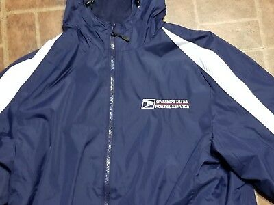 USPS SPORT TEK 2-TONE POSTAL HOODIE HOODED SWEATSHIRT WITH POSTAL LOGO ON CHEST