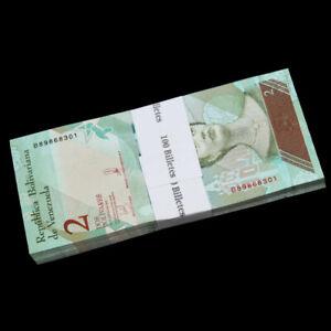 Bundle-Lot-100-PCS-Venezuela-2-Bolivares-2018-P-NEW-NEW-ISSUE-UNC