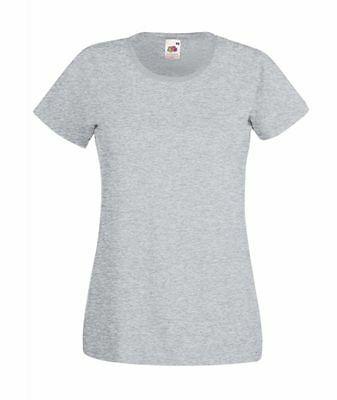 FRUIT OF THE LOOM DAMEN T-SHIRT Lady Fit Valueweight Rundhals-XS S M L XL XXL