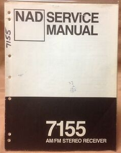Details about Original NAD 7155 Receiver Service Manual