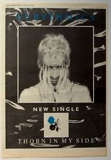 Eurythmics 1986 Poster Ad Thorn In My Side