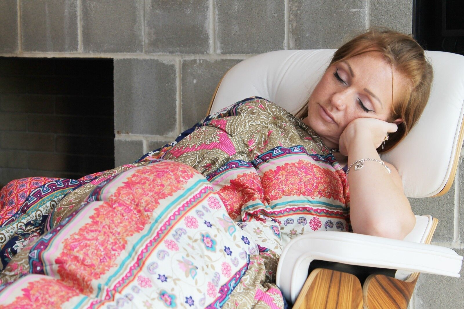 Weighted Blanket  stripe print - Helps to reduce insomnia,Anxiety, Sleep better