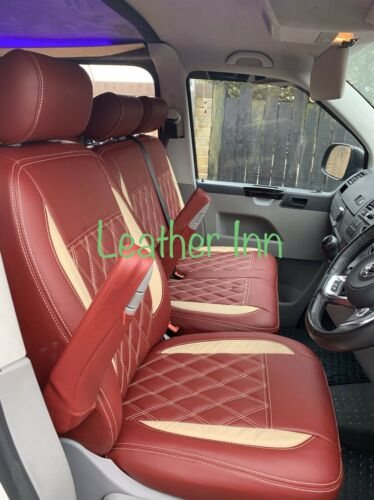 Vw Transporter T5,T6  1+2 Front Only Leatherette Seat Covers