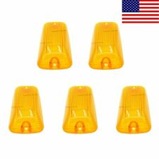 5X Roof Running Light Cab Marker Amber Cover Top Lamp Len For 1988-2000 Chevy US