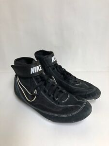 buy popular 06c44 fde14 Image is loading Nike-Speed-Sweep-VII-Black-White-Wrestling-Shoes-