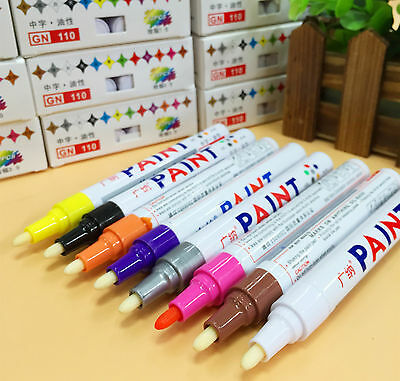 permanent oil based paint tire marker   car rubber glass tyres paint pens ebay