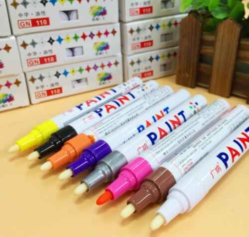 1x Colorful Waterproof Permanent Paint Pen Tire Metal Outdoor Marking Ink Marker
