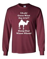 Long Sleeve Adult T-Shirt Hump Day! Hump Day! Camel Guess What Day It Is? Funny