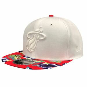 low priced 5e152 98e00 Image is loading Miami-Heat-Hat-Floral-9FIFTY-Men-039-s-