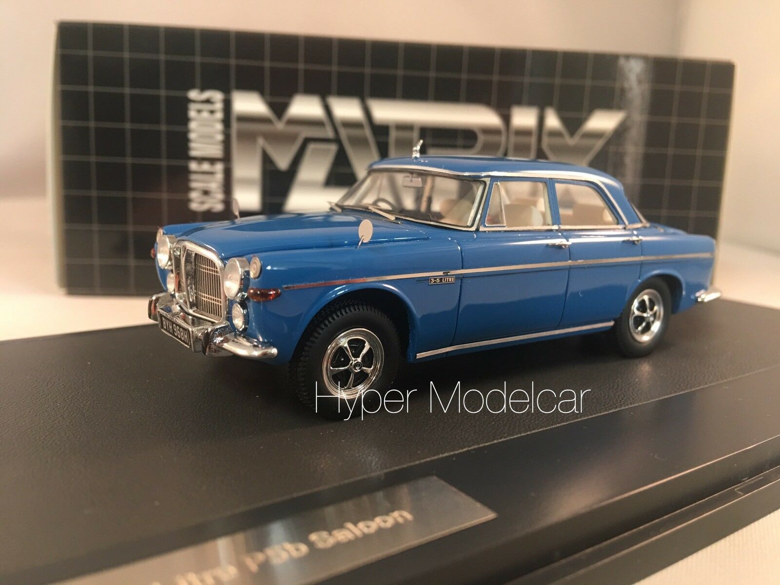 MATRIX SCALE MODELS 1 43 Rover 5.5 Litre P5B Saloon 1972 bleu Art. MX41706-111