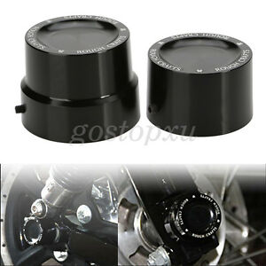 Black-Rear-Axle-Nut-Cover-Cap-For-Harley-Softail-Dyna-V-Rod-Sportster-883-1200