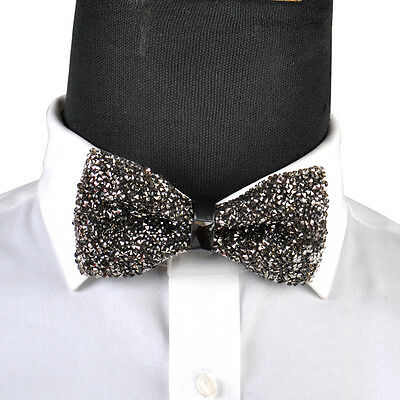 Men Boy Stylish Tie Glitter Crystal Rhinestone Sparkle Adjustable Tuxedo Bow tie